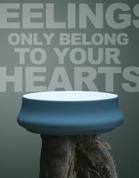 Servant med silikon i fargen blue